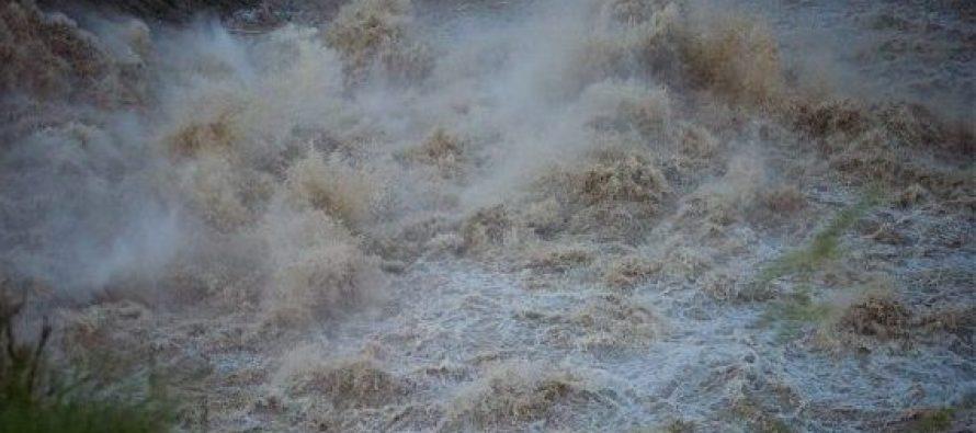 ჭუბერში, მდინარე ნენსკრას დონემ კვლავ მოიმატა, ცოტა ხნის წინ წყალმა კიდევ ერთი მრავალწლიანი ხე მოგლიჯა