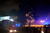 ცხინვალში ე.წ პრეზიდენტის ადმინისტრაციის შენობა იწვის {VIDEO}