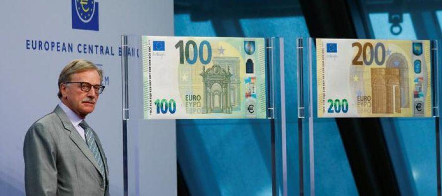 ევროპის ცენტრალურმა ბანკმა ახალი 100 და 200 ევროიანი ბანკნოტები წარადგინა