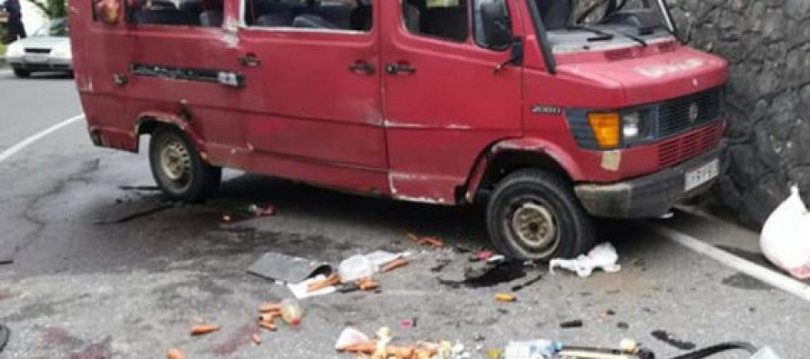 ავტოსაგზაო შემთხვევა მოხდა ტყიბულში,არიან დაშავებულები