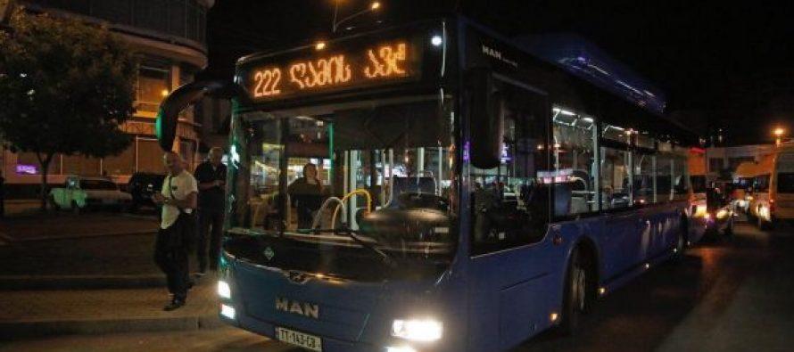 """თბილისში """"ღამის ავტობუსის"""" მარშრუტი ამოქმედდა"""