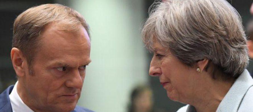 """ევროკავშირი ტერეზა მეის """"ბრექსიტის"""" გეგმას არ დაეთანხმა"""