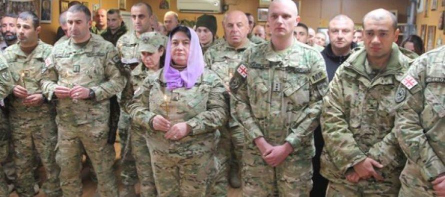 ავღანეთში ქართველმა სამხედროებმა ქრისტეშობის დღესასწაული აღნიშნეს