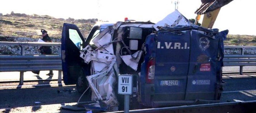 გაქურდვა იტალიურად: საინკასაციო მანქანა ექსკავატორით გაგლიჯეს