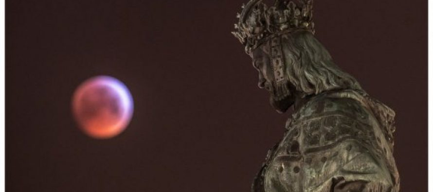 """წუხელ დედამიწაზე """"სისხლიანი მგლის სუპერმთვარე"""" ამოვიდა (ფოტო)"""