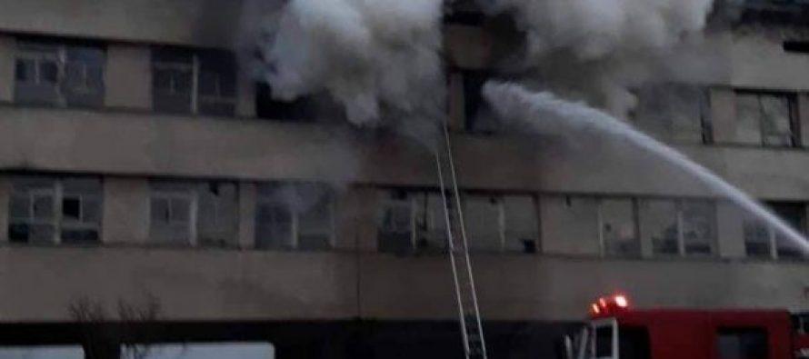 ხანძარი მარტვილის მუნიციპალიტეტში-ცეცხლი ყოფილი ე.წ ტექნიკუმის შენობაში გაჩნდა