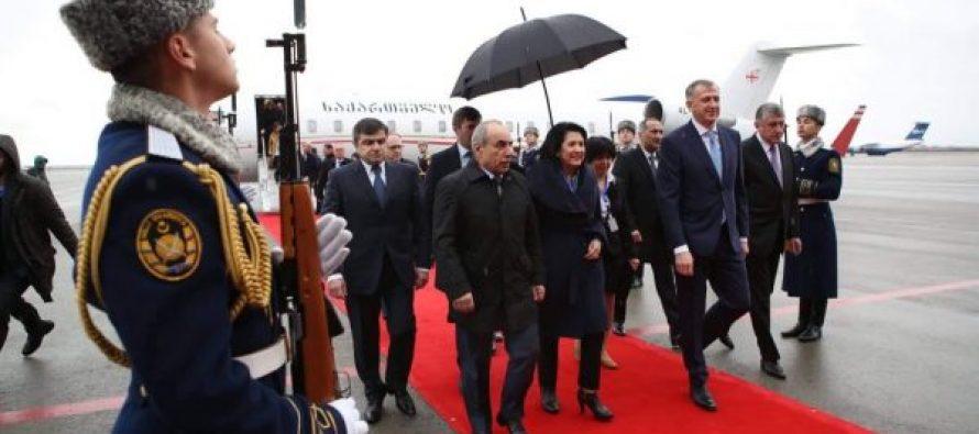 საქართველოს პრეზიდენტმა, სალომე ზურაბიშვილმა აზერბაიჯანში ოფიციალური ვიზიტი დაიწყო