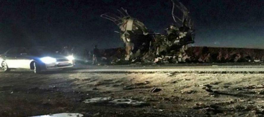 ირანში თვითმკვლელი სამხედროების ავტობუსს დაესხა თავს
