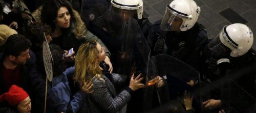 სტამბოლში პოლიციამ ქალთა მარშის წინააღმდეგ ცრემლსადენი გაზი გამოიყენა