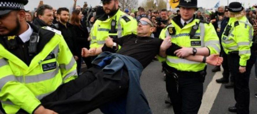 ლონდონის პოლიციამ კლიმატის ცვლილების შესახებ პროტესტის 290 მონაწილე დააკავა