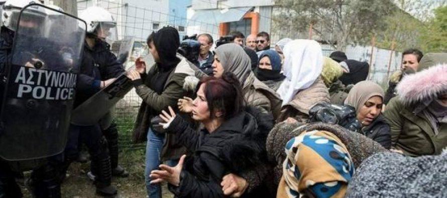 საბერძნეთის პოლიციამ საზღვართან შეკრებილი მიგრანტების წინააღმდეგ ცრემლსადენი გაზი გამოიყენა
