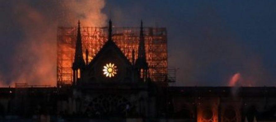 მსოფლიო ლიდერები ცეცხლწაკიდებული პარიზის ღვთისმშობლის ტაძრის გამო მწუხარებას გამოთქვამენ