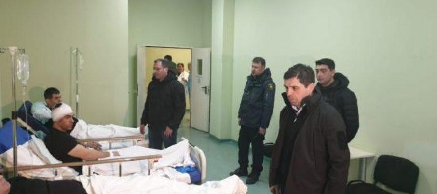 შს მინისტრის მოადგილეებმა პანკისის ხეობაში დაშავებული პოლიციელები მოინახულეს