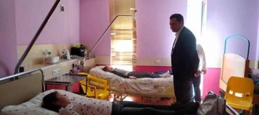 სამეგრელო-ზემო სვანეთის სახელმწიფო რწმუნებული სენაკის ბავშვთა საავადმყოფოში იმყოფება