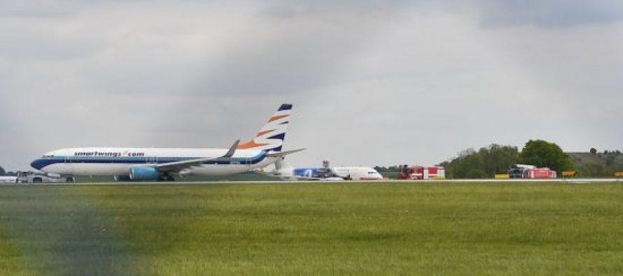 პრაღის აეროპორტში ასაფრენ ბილიკზე თვითმფრინავები ერთმანეთს დაეჯახნენ