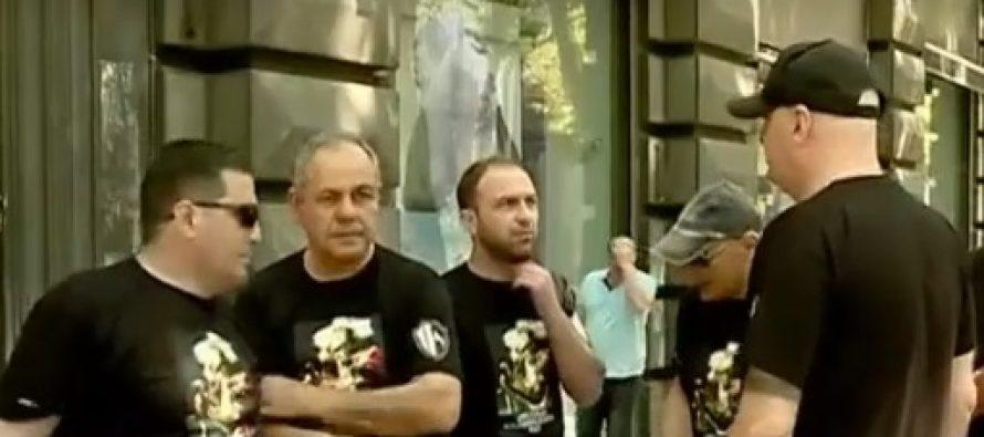 """""""ქართული მარშის"""" წევრები და მისი მხარდამჭერები მსვლელობას მართავენ"""