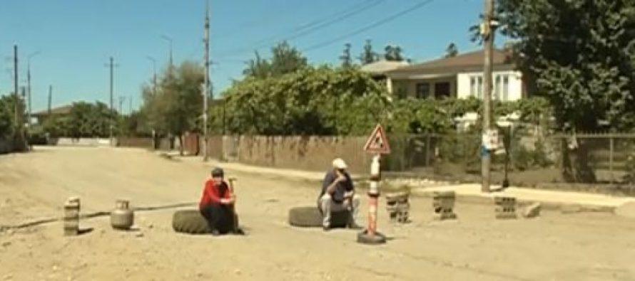 მოსახლეობა ზუგდიდში გადათხრილი ქუჩების გამო პროტესტს გამოთქვამს