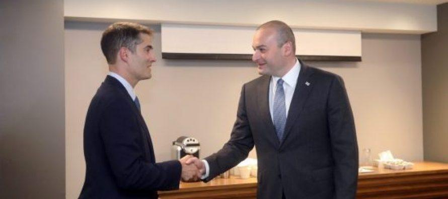 მამუკა ბახტაძე მონრეალში ამერიკის საერთაშორისო ეკონომიკური ფორუმის პრეზიდენტს შეხვდა
