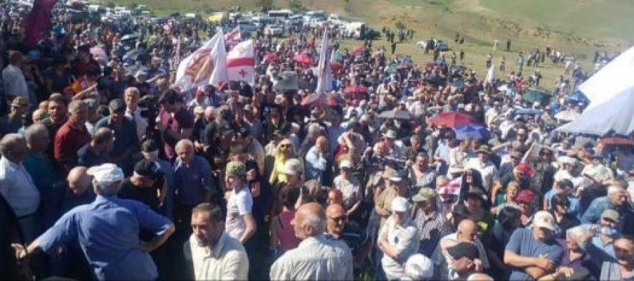 საქართველოს პატრიოტების შეკრება დავით გარეჯში 8000-ზე მეტი კაცი მონაწილეობდა აქციაში