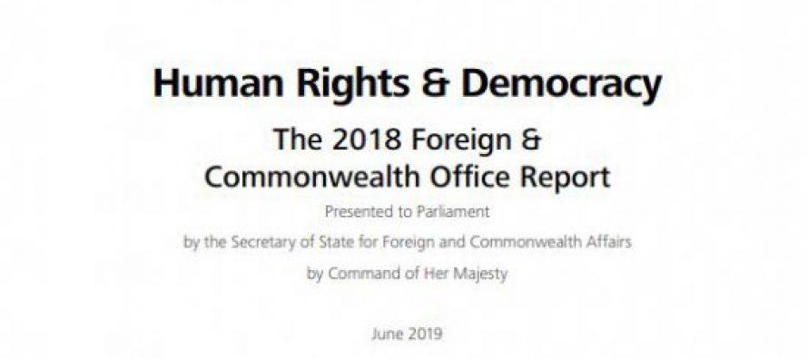 დიდი ბრიტანეთის საგარეო და თანამეგობრობის ოფისის ადამიანის უფლებებისა და დემოკრატიის შესახებ 2018 წლის ანგარიშში აისახა საქართველოს ოკუპირებულ რეგიონებში არსებული მძიმე მდგომარეობა