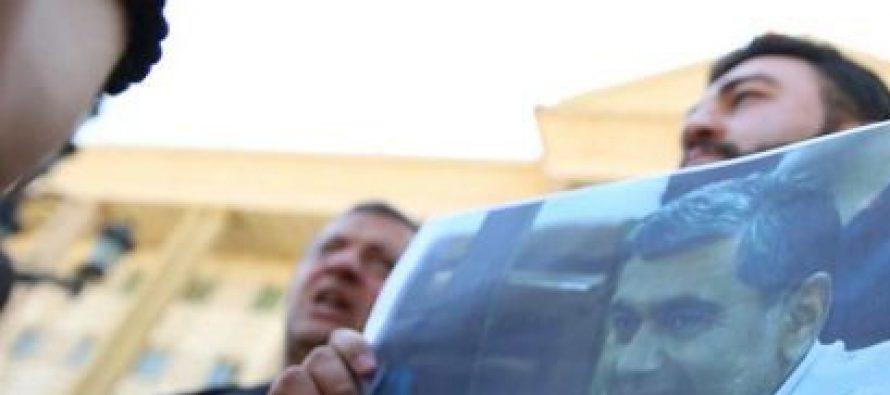 """სასამართლოსთან """"გამარჯვებული საქართველოს"""" ინიციატივით, ირაკლი ოქრუაშვილის მხარდასაჭერი აქცია გაიმართა"""