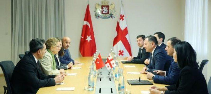 შინაგან საქმეთა მინისტრი ვახტანგ გომელაური თურქეთის ელჩს შეხვდა