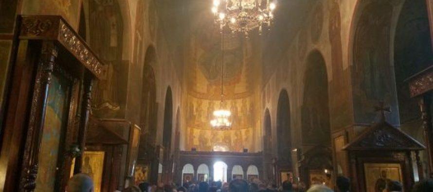 მეუფე იოანე რუსთავში ვახტანგ გორგასლის სახელობის საკათედრო ტაძარში ბოლო ღვთისმსახურებას ატარებს