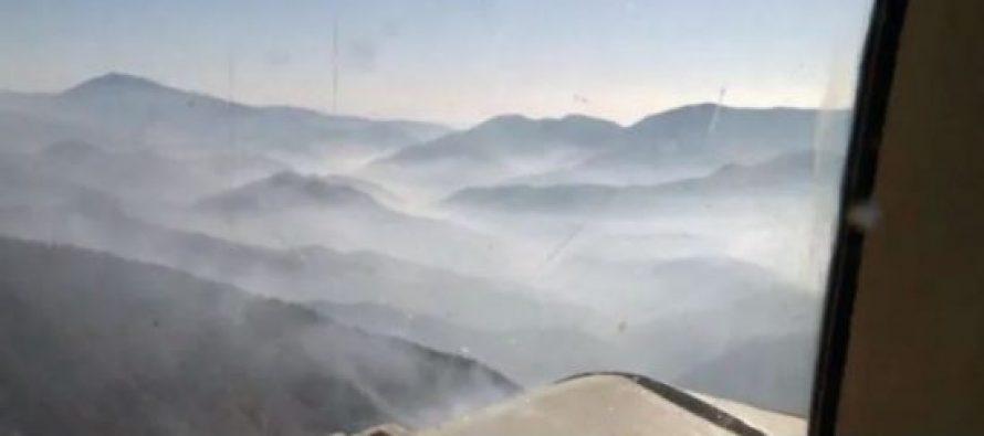 სოხუმის უღელტეხილზე დაახლოებით 200 ჰექტარი ტყის მასივი იწვის