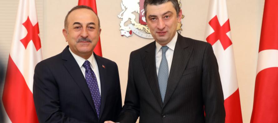 საქართველოს პრემიერ-მინისტრმა და თურქეთის საგარეო საქმეთა მინისტრმა ორი ქვეყნის სტრატეგიული პარტნიორობის გაღრმავებაზე ისაუბრეს