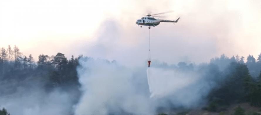 ხანძარი ატენის ხეობაში – ცეცხცლს 200 მაშველი ებრძვის, პროცესში ვერტმფრენიც ჩაერთო