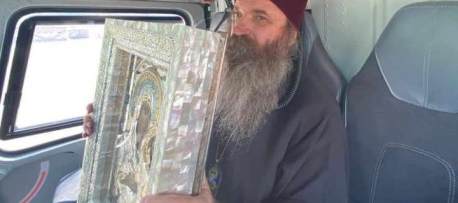 ბოდბელმა მთავარეპისკოპოსმა იაკობმა იერუსალიმის ღვთისმშობლის ხატით ვერტმფრენით შემოუფრინა თბილისს და დალოცა ქალაქი