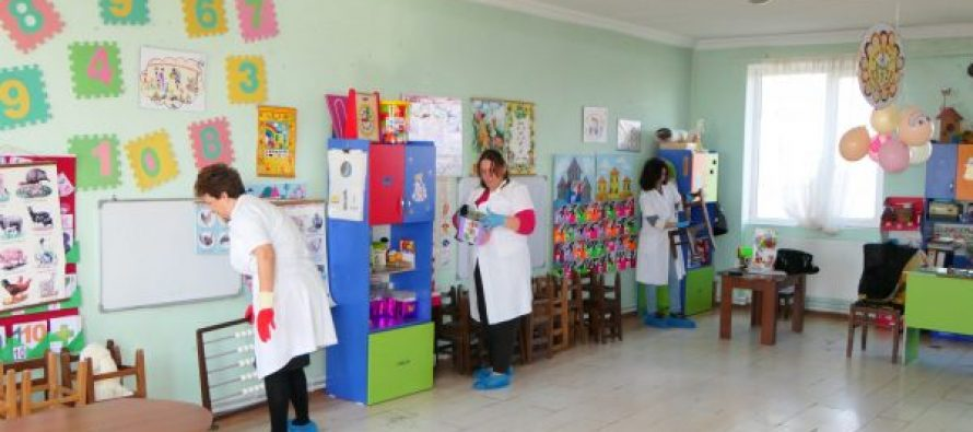 ფოთის საბავშვო ბაღებში სადეზინფექციო სამუშაოები ტარდება