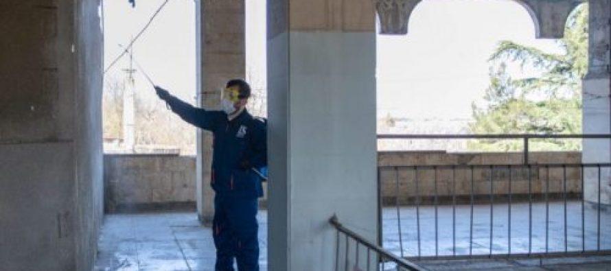 თბილისში მდებარე დევნილთა კომპაქტურ ჩასახლებებში სადეზინფექციო სამუშაოები მიმდინარეობს
