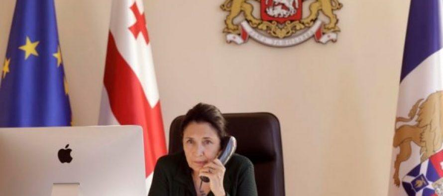 სალომე ზურაბიშვილი სერბეთის რესპუბლიკის პრეზიდენტს ტელეფონით ესაუბრა