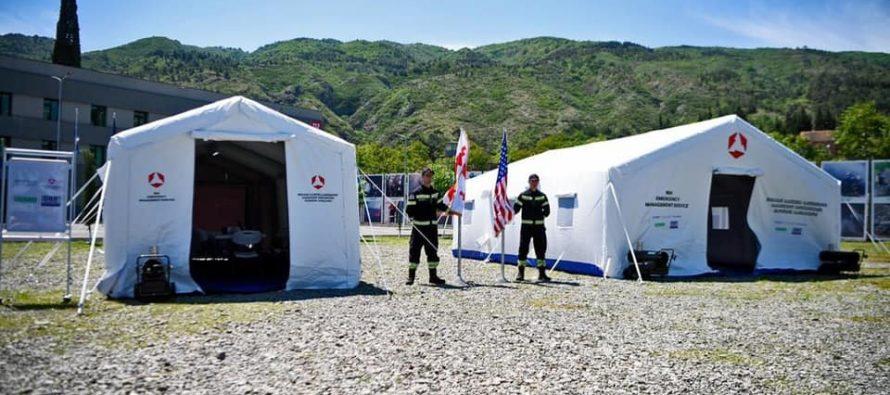 საგანგებო სიტუაციების მართვის სამსახურს USAID-ის მხარდაჭერით საველე კარვები გადაეცა