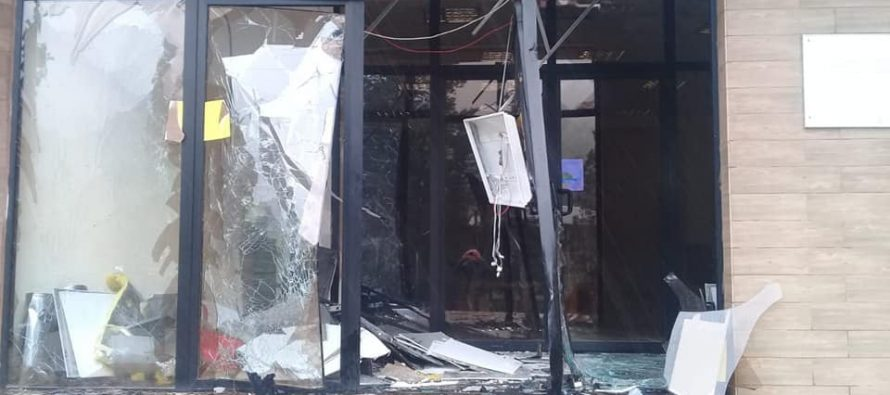 ტროტილით ააფეთქეს შენობა, სადაც ლიბერთი ბანკის ბანკომატი იყო განთავსებული
