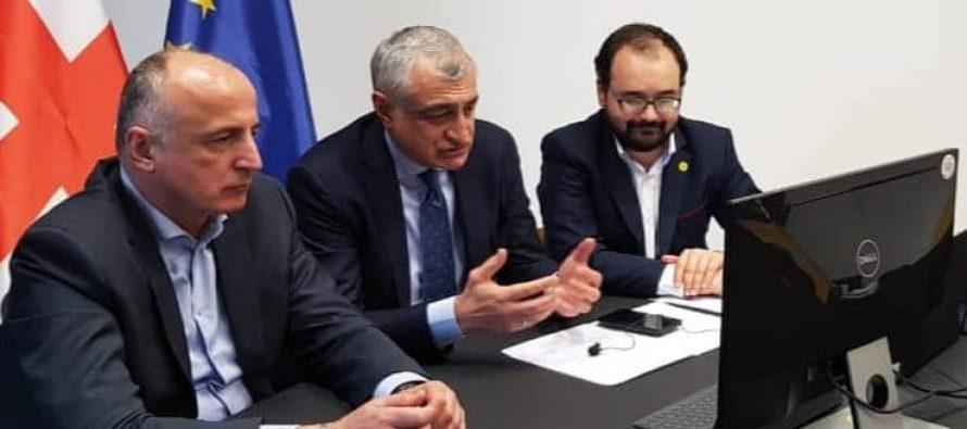 ''ლელოს'' ლიდერები ევროპარლამენტარებს ანდრიუს კუბილიუსსა და რასა იუკნევიჩიენეს შეხვდნენ