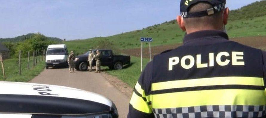 პოლიცია ბოლნისის მუნიციპალიტეტის სოფელ გეტაში მკაცრი საკარანტინო რეჟიმის აღსრულებას და საზოგადოებრივი წესრიგის დაცვას უზრუნველყოფს