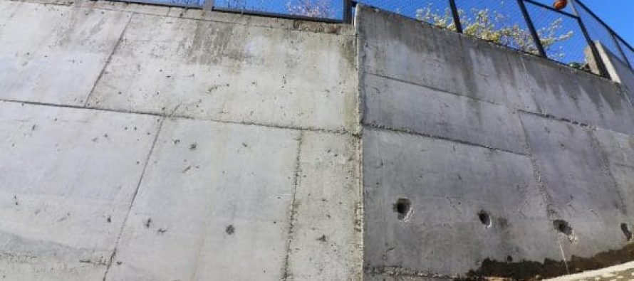 მთაწმინდის რაიონში გრუნტის დამჭერი ოთხი კედლის მშენებლობა დასრულდა