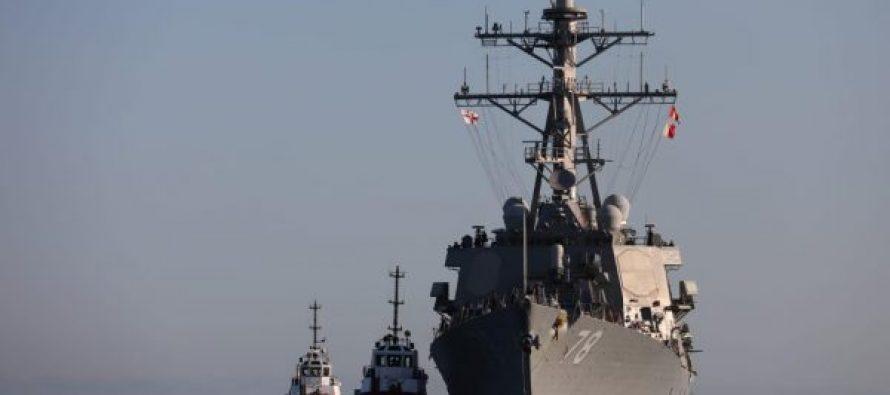 სასაზღვრო პოლიციის სანაპირო დაცვა საქართველოს ტერიტორიულ წყლებში ამერიკის შეერთებული შტატების საზღვაო ხომალდ USS Porter-ს (DDG 78) მასპინძლობს