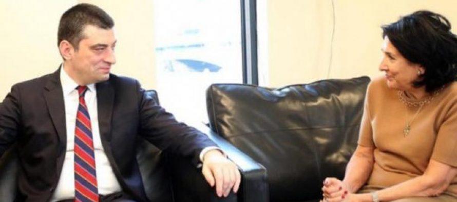 საქართველოს პრემიერმინისტრი გიორგი გახარია პრეზიდენტ სალომე ზურაბიშვილს შეხვდა