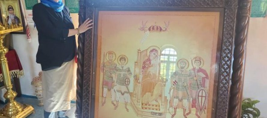 """ოკუპირებული """"აფხაზეთის მართლმადიდებელი ეკლესია"""" """"პატრიოტთა ალიანსის"""" წევრების მიერ ნაჩუქარ ხატს უკან აბრუნებს"""