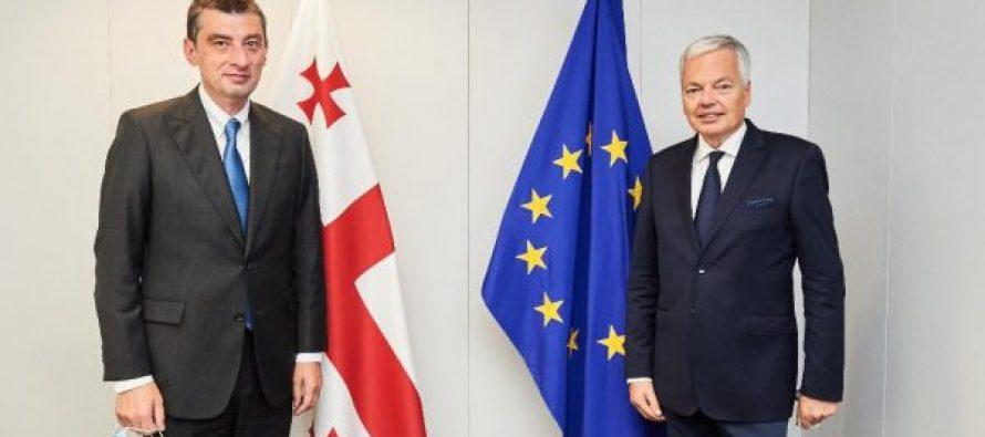 პრემიერ-მინისტრი გიორგი გახარია ევროკომისარ დიდიე რეინდერსს შეხვდა
