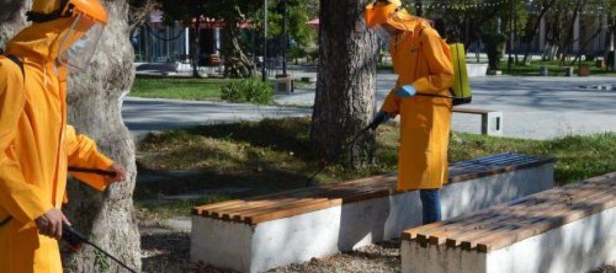 აბაშის მუნიციპალიტეტის მერიის მობილური ჯგუფები სადეზინფექციო სამუშაოებს ატარებენ