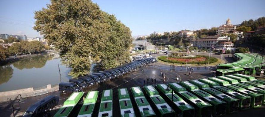 დედაქალაქში BMC-ს მარკის ავტობუსების და  FORD-ის მარკის მიკროავტობუსების პირველი ნაკადი  შემოვიდა