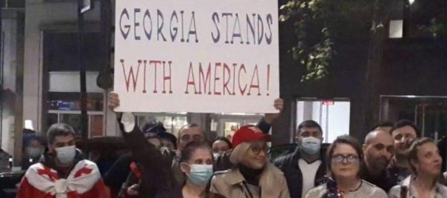 არ დანებდეთ, დემოკრატია მოგვპარეს – აშშ-ში მცხოვრებმა ქართველებმა სოლიდარობის აქცია გამართეს