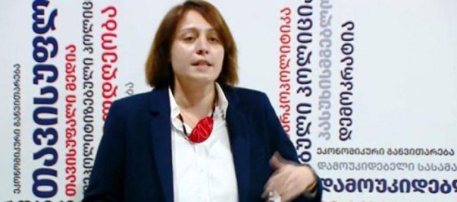 ელენე ხოშტარიამ ვაკის ოლქში არჩევნების გაყალბების ამსახველი ოქმები და ვიდეომასალა წარმოადგინა