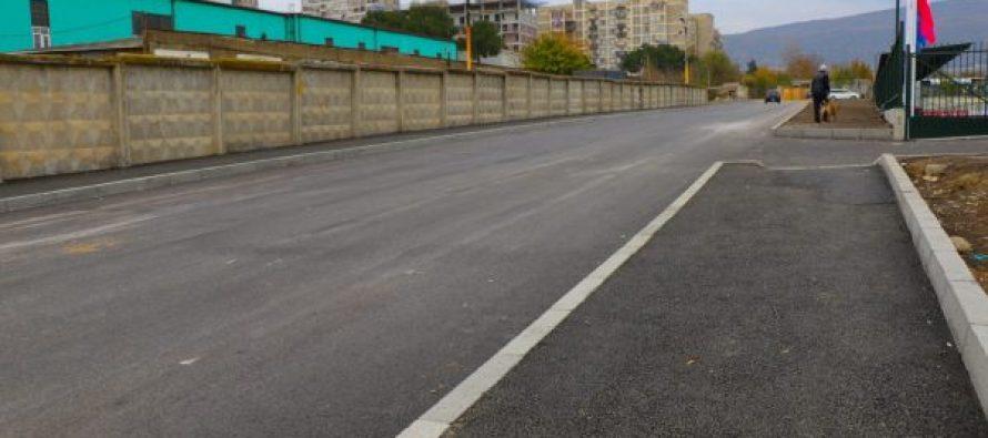ჯაბიძის ქუჩის გაგრძელებაზე ასფალტის საფარი მოეწყო