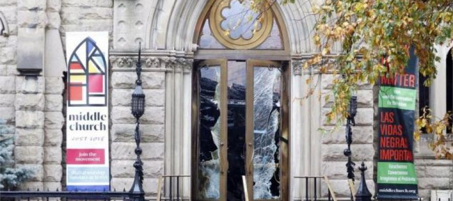 ნიუ იორკში 128 წლის პროტესტანტულ ტაძარში ხანძარი გაჩნდა