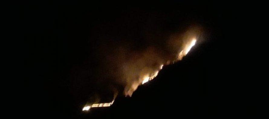 დობერაზენის მთა  ცეცხლის ალშია გახვეული